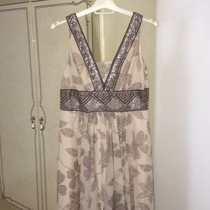 BCBG Maxazria Long Cream Ocasion Dress Size 10